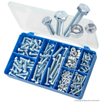 HAK11 Mild Steel Hex Bolt & Nuts (Zinc Plated)